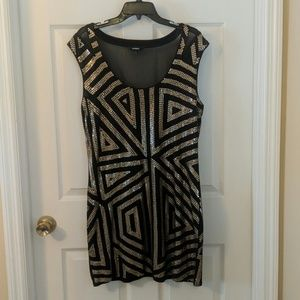 Express Black with Bronze Sequence Dress